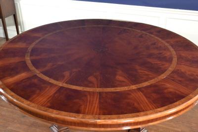 Lh 21 Round Perimeter Leaf Round Dining Table Leighton Hall Furniture